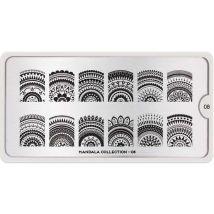 MoYou London Professional Stamping Plate, Mandala 08, XL
