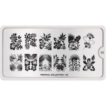 MoYou London Professional Stamping Plate, Tropical 03, XL