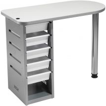 REM Popular Nail Station without Air Filter, White