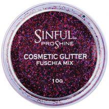 Sinful Proshine Glitter, Fuschia Mix 10g