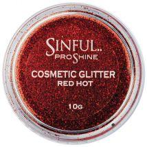 Sinful Proshine Glitter, Red Hot 10g