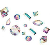 Preciosa Crystals 3D Mix, Aurora Borealis (100)