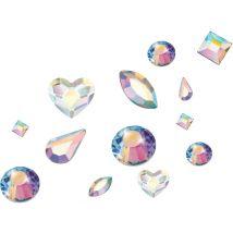 Preciosa Crystals Shape Mix, Aurora Borealis (100)